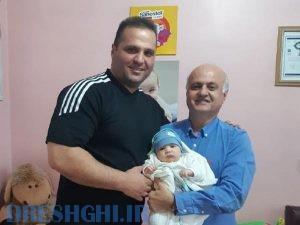 نوزاد رایان عزیز فرزند آقای قرایی از قویترین مردان ایران که در مطب اینجانب ختنه شد